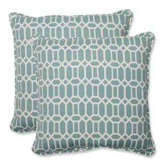 Pillow Perfect Outdoor Rhodes Quartz 18.5-inch Throw Pillow (Set of 2)