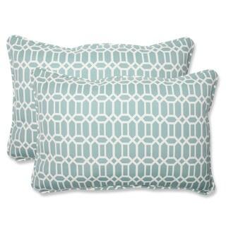 Pillow Perfect Outdoor Rhodes Quartz Over-sized Rectangular Throw Pillow (Set of 2)