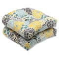 Pillow Perfect Full Bloom Outdoor Wicker Seat Cushions (Set of 2)