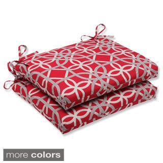 Pillow Perfect Keene Squared Corners Outdoor Seat Cushions (Set of 2)