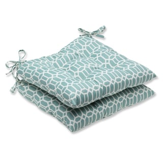 Pillow Perfect Outdoor Rhodes Quartz Wrought Iron Seat Cushion (Set of 2)