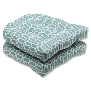 Pillow Perfect Outdoor Rhodes Quartz Wicker Seat Cushion (Set of 2)