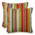 Pillow Perfect Outdoor Roxen Stripe Citrus 18.5-inch Throw Pillow (Set of 2)
