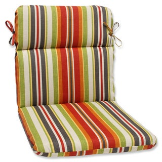 Pillow Perfect Outdoor Roxen Stripe Citrus Rounded Corners Chair Cushion