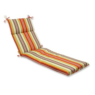 Pillow Perfect Outdoor Roxen Stripe Citrus Chaise Lounge Cushion