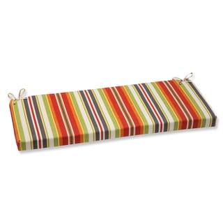 Pillow Perfect Roxen Stripe Citrus Outdoor Bench Cushion