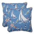 Pillow Perfect Set Sail Atlantic 18.5-inch Outdoor Throw Pillows (Set of 2)