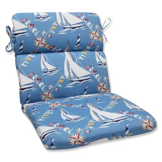Pillow Perfect Set Sail Atlantic Rounded Corners Outdoor Chair Cushion