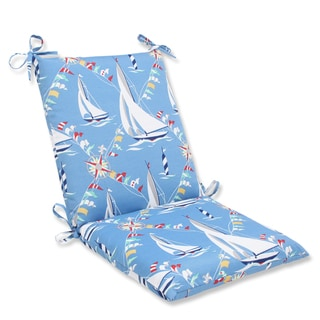 Pillow Perfect Set Sail Atlantic Squared Corners Outdoor Chair Cushion