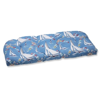 Pillow Perfect Set Sail Atlantic Outdoor Wicker Loveseat Cushion