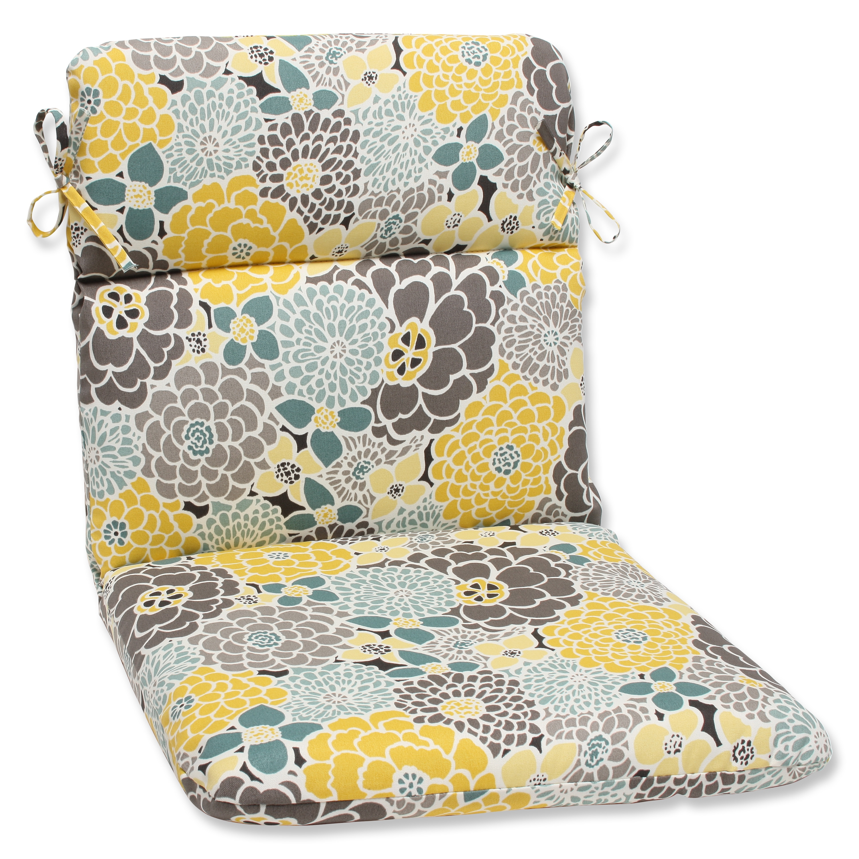 Pillow Perfect Full Bloom Rounded Corners Outdoor Chair Cushion at Sears.com