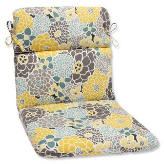 Pillow Perfect Full Bloom Rounded Corners Outdoor Chair Cushion