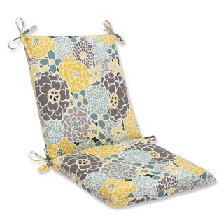 Pillow Perfect Full Bloom Squared Corners Outdoor Chair Cushion