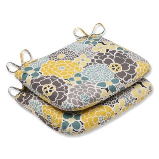 Pillow Perfect Full Bloom Rounded Corners Outdoor Seat Cushions (Set of 2)