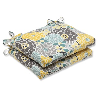 Pillow Perfect Full Bloom Squared Corners Outdoor Seat Cushions (Set of 2)