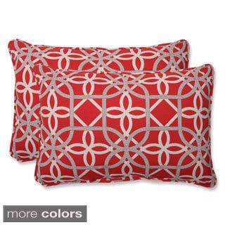 Pillow Perfect Keene Over-sized Rectangular Outdoor Throw Pillows (Set of 2)