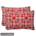 Pillow Perfect Keene Over-sized Rectangular Outdoor Throw Pillows (Set of 2)