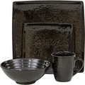 Galaxy Black 16-piece Dinnerware Set