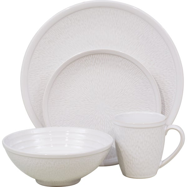 Sango Spectrum White 16-piece Dinnerware Set