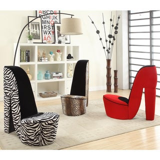 High heel shoe fabric chair overstock shopping great deals on