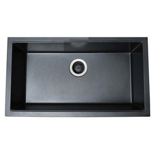 Ukinox Single Basin Granite Composite Dual Mount Kitchen Sink
