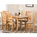 Abbyson Living 'Venice' 7-piece Oak Finish Dining Set