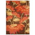 Alliyah Handmade Cocoa Brown New Zealand Blend Wool Rug (8' x 10')