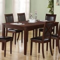 Dark Espresso Birch Veneer Dining Table