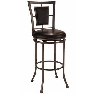 Auckland Oyster Stone/ Black Metal Stool