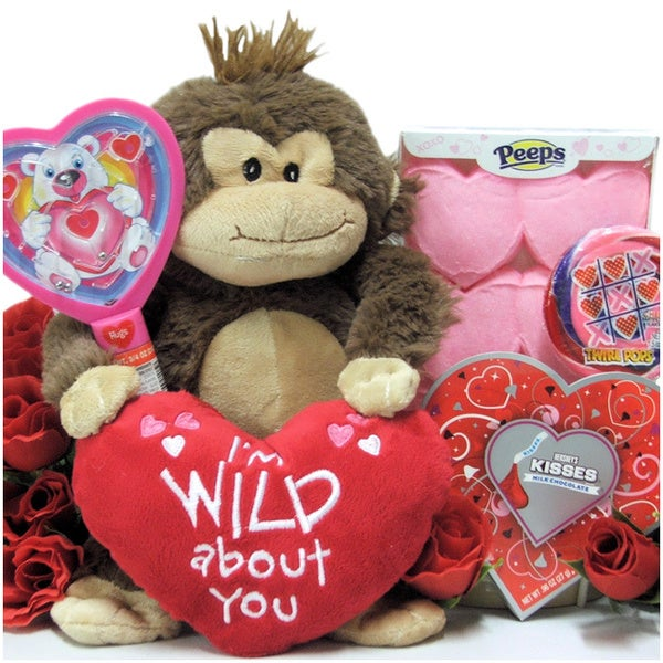 I'm Wild About You Valentine's Day Gift Basket for Kids