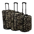 Advantage Lightweight Zebra Tapestry Collection 3-piece Upright Luggage Set