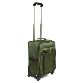 London Fog Newbury II Spruce 20-inch Carry On Expandable 360-degree Spinner Upright
