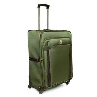 London Fog Newbury II Spruce 28-inch Large Expandable 360-degree Spinner Upright Suitcase