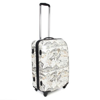 Amelia Earhart Explorer 24-inch Medium Hardside 360-degree Spinner Upright Suitcase
