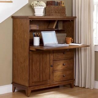 Liberty Rustic Oak Heathstone Computer Cabinet