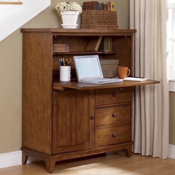 Liberty Rustic Oak Heathstone Computer Cabinet 15992361