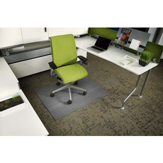 Eco-natural Composite Rectangular Gray Chair Mat