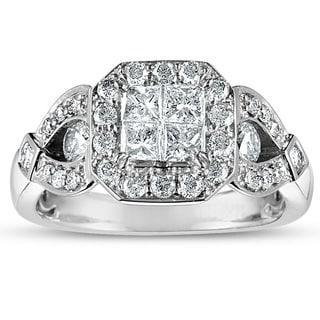 10k White Gold 1 1/4ct TDW Princess-cut Diamond Engagement Ring (H-I, I2-I3)