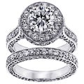 14k/18k Gold or Platinum 5 1/2ct TDW Clarity Enhanced Round Diamond Bridal Set (F-G, SI1-SI2)