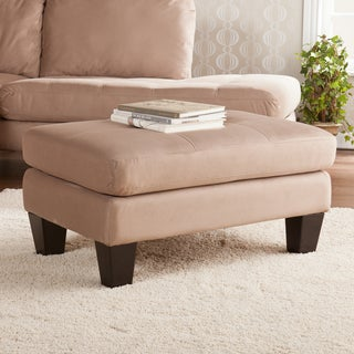 Upton Home Marley Earthy Gray Upholstered Ottoman