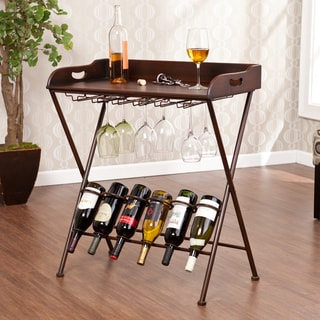 Upton Home Syrah Wine Serving Tray Table