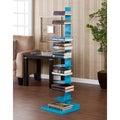 Upton Home Weldon Berry Blue Spine Book/ Media Tower