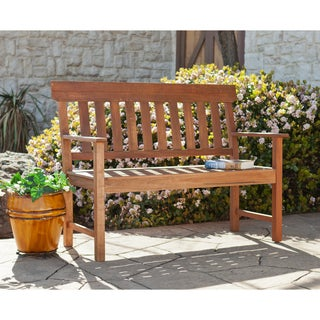 Upton Home Landry Hardwood Outdoor 50-inch Bench