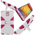 BasAcc White/ Hot Pink Dynamic Stand Case for Samsung Galaxy Note 3