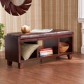 Upton Home Espresso Cavalier Bench