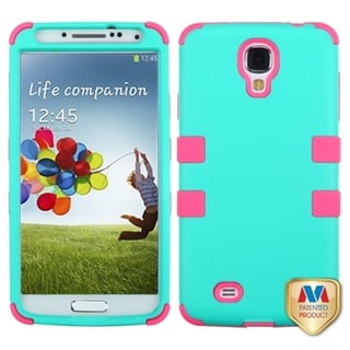 INSTEN Green/ Electric Pink TUFF Phone Case Cover for Samsung Galaxy S4 I337