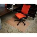 Eco-natural Composite Rectangular Chestnut Brown Chair Mat