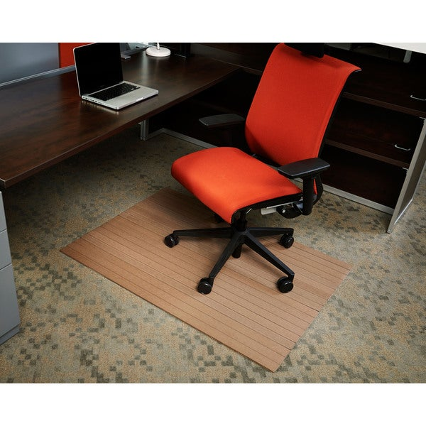 Jani Eco-natural Composite Rectangular Chestnut Brown Chair Mat