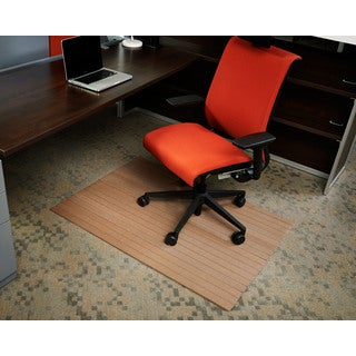 Eco-natural Composite Rectangular Chestnut Brown Chair Mat