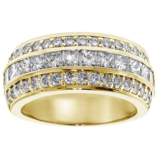 14/18k Yellow Gold 2 2/5ct TDW Diamond Anniversary Band (F-G, SI1-SI2)
